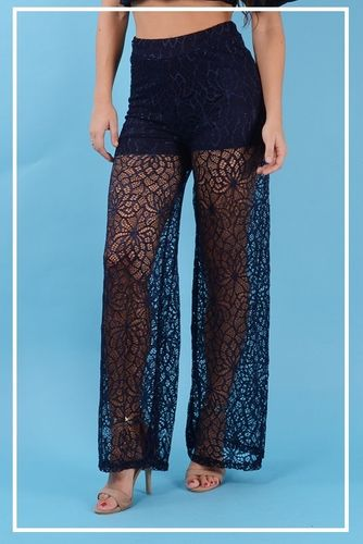pantalon largo de blonda