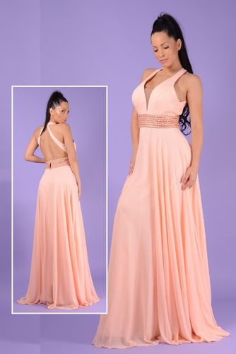 Vestido fiesta cocktail peach